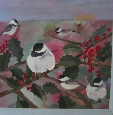 Chickadee-eee - Painting by Andrea Deimel