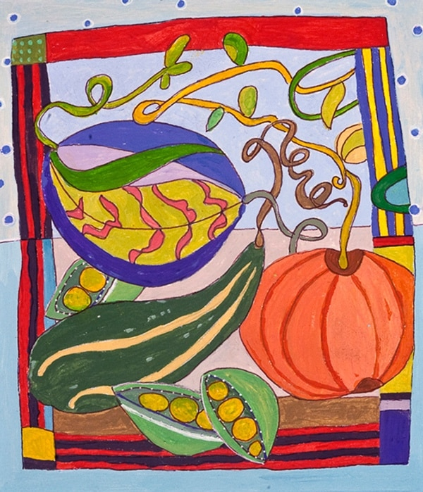 Fall Fruit - Painting by Andrea Deimel