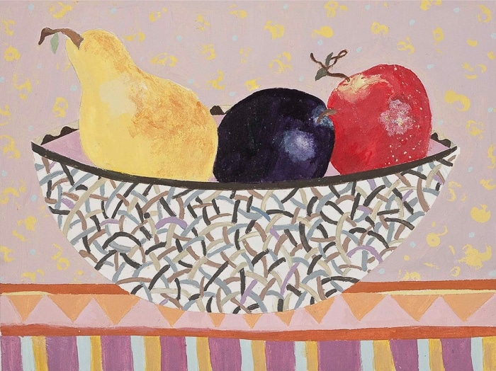 Fruit Bowl A - Painting by Andrea Deimel