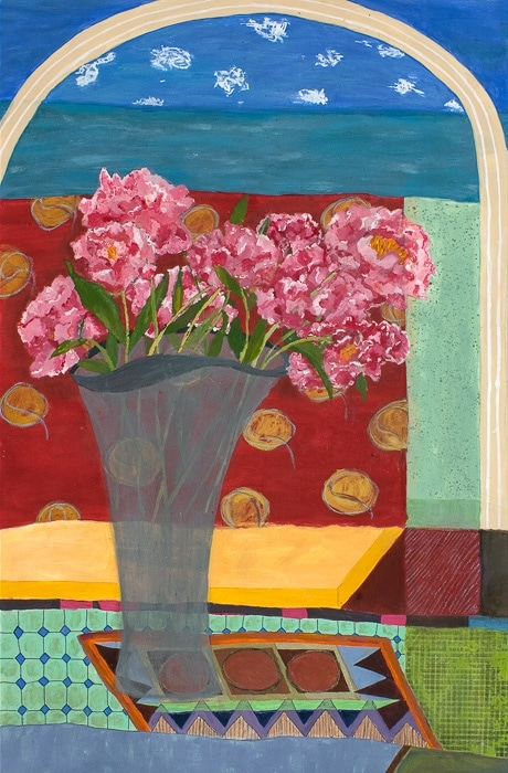 Peonies - Painting by Andrea Deimel