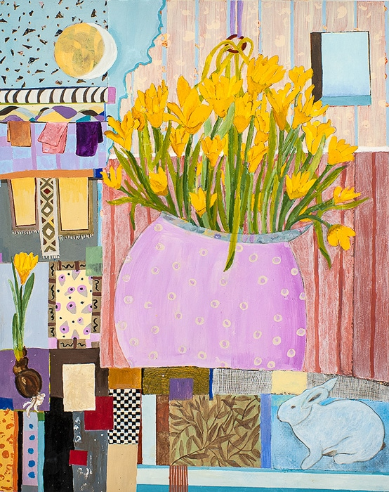 Spring Fantasy - Painting by Andrea Deimel